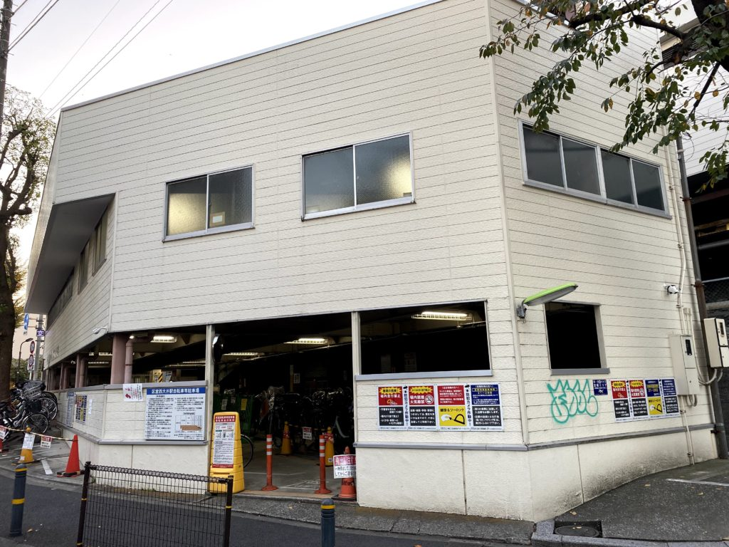 nishiooi-station-bicycle-parking