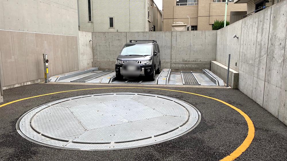 カスタリア中延の駐車場