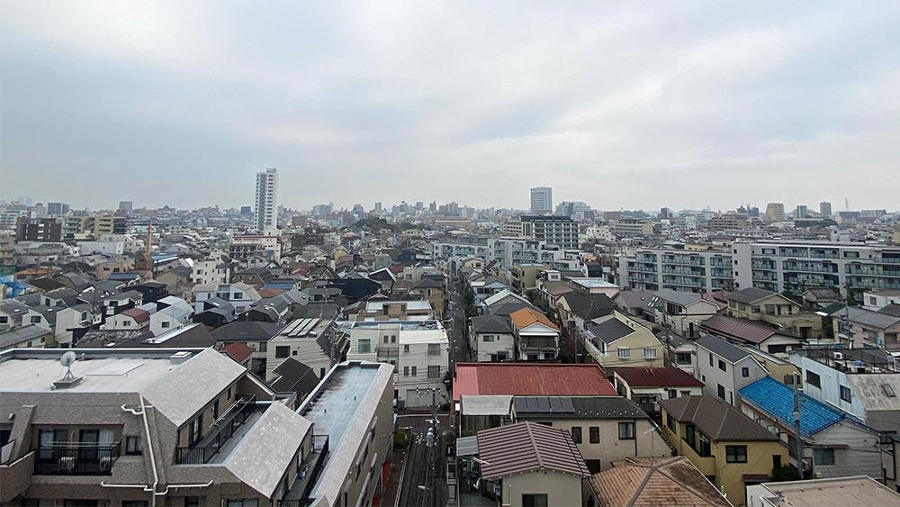 カスタリア中延の7階からの眺望