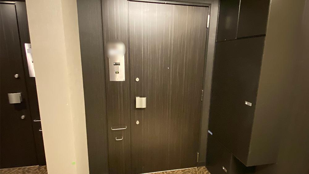 ディームス大井町のダブルロックの玄関ドア