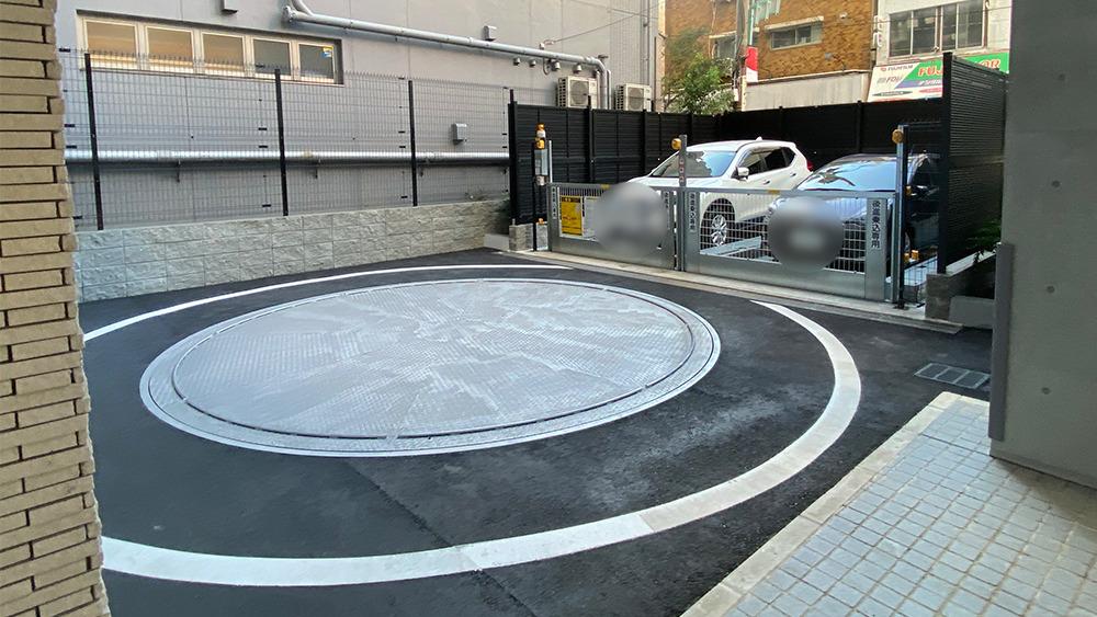 ディームス大井町の駐車場