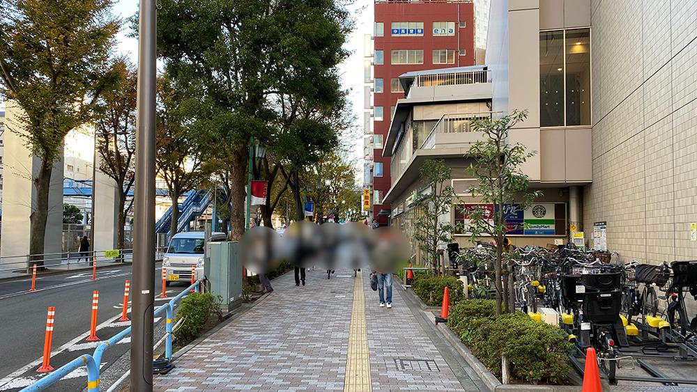 阪急大井町ガーデンの北西の通り
