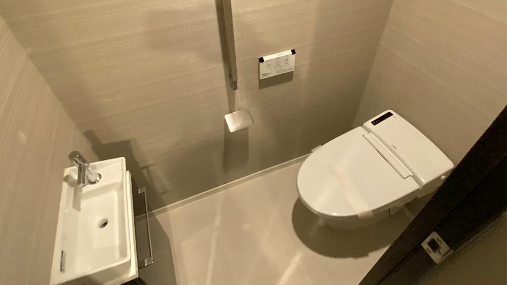 ディームス大井町の洗面台付トイレ