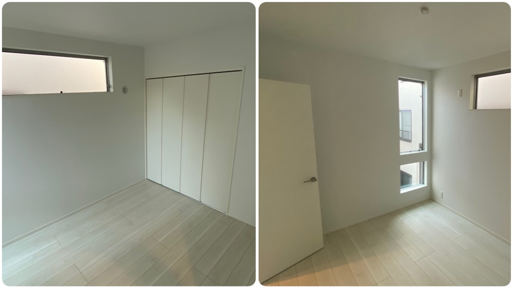 二葉三丁目新築戸建ての2階洋室です。