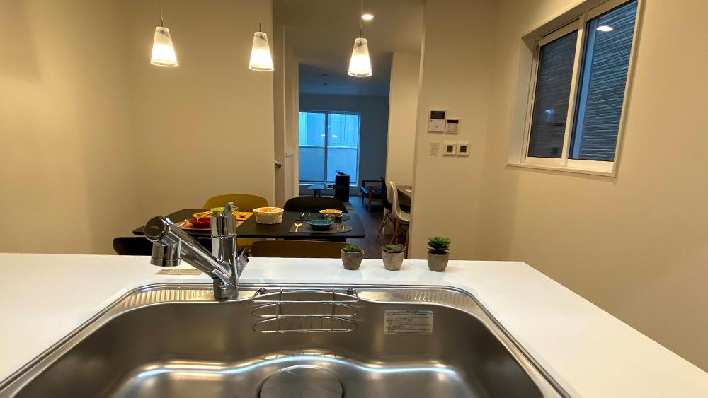 原町2丁目新築戸建の対面式キッチン