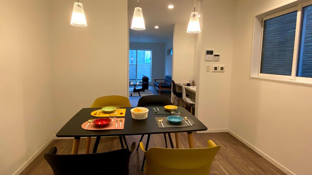 原町2丁目新築戸建の20.4帖のリビング・ダイニング・キッチンです。