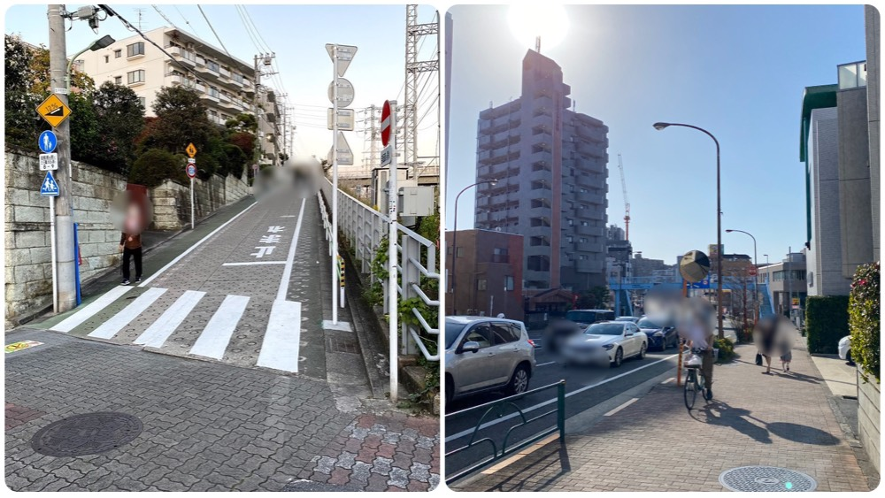 石川台駅周辺の街並み