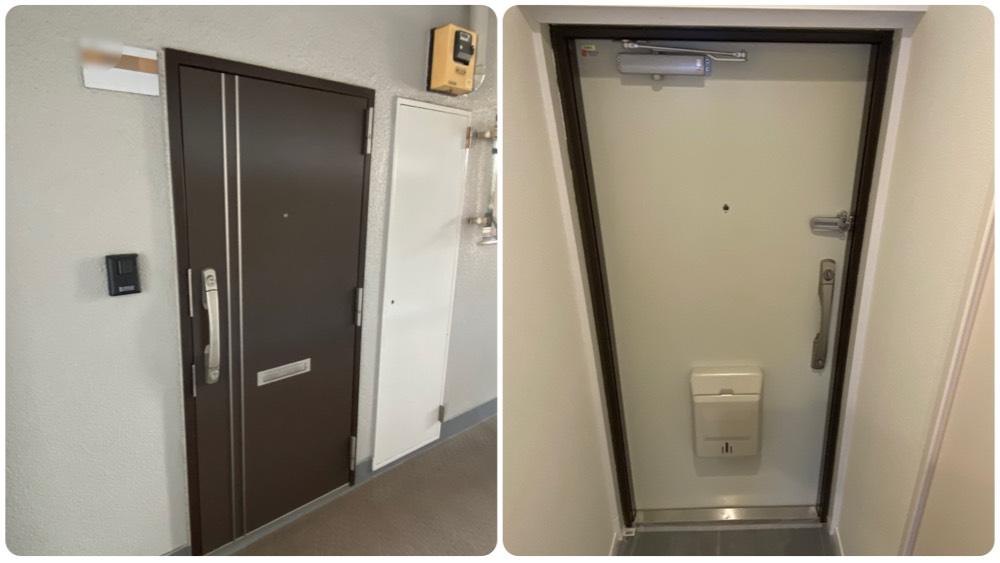 ニックハイム石川台の玄関ドア