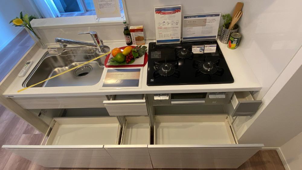 ニックハイム石川台のキッチンワークトップ