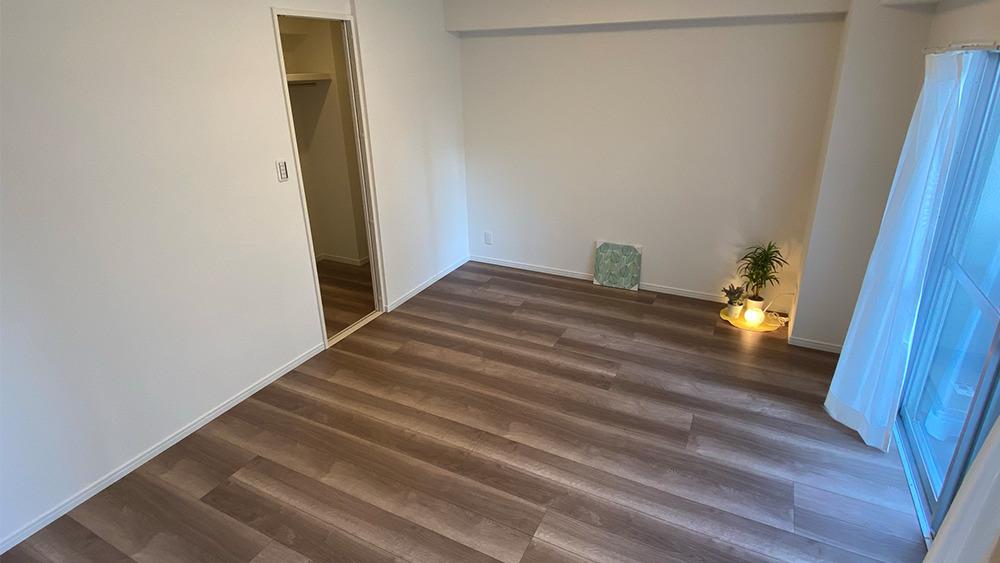 ニックハイム石川台のベッドルーム(別角度から撮影)