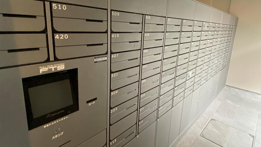 プラウドフラット戸越公園のメールボックスと宅配ボックス