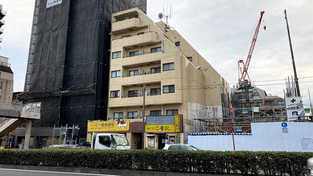 ストーク中延の第二京浜から見た外観