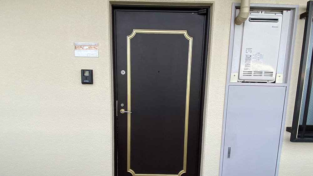 タウンハイツ上池台の玄関ドア