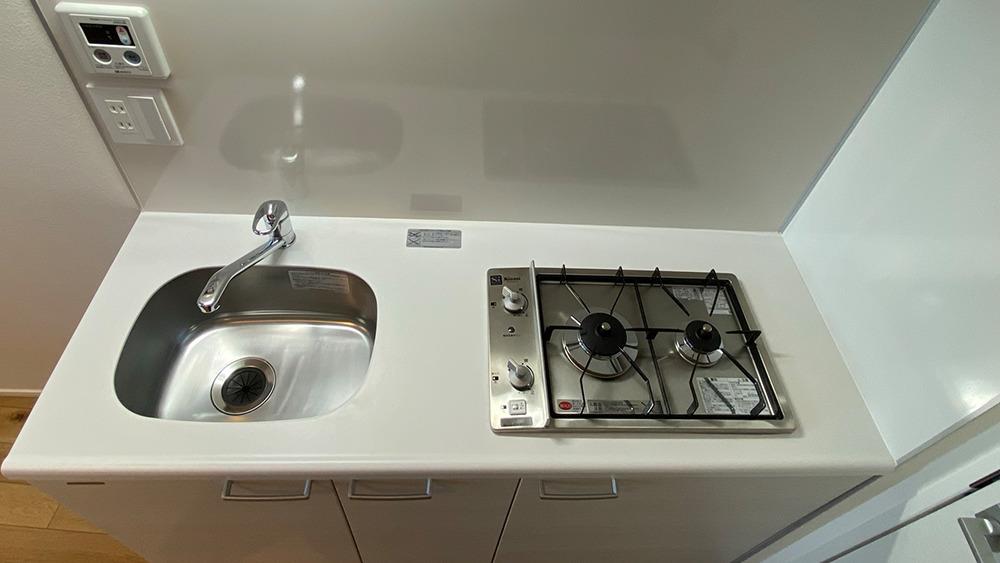 グランエッグス品川中延の2口システムキッチンです